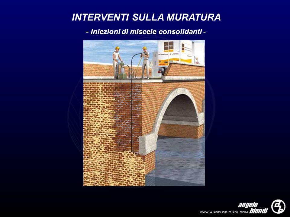 INTERVENTI SULLA MURATURA - Iniezioni di miscele consolidanti -