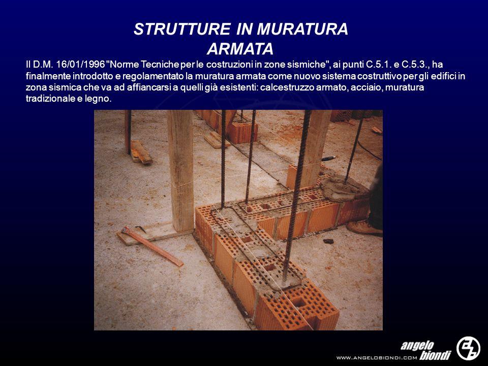STRUTTURE IN MURATURA ARMATA
