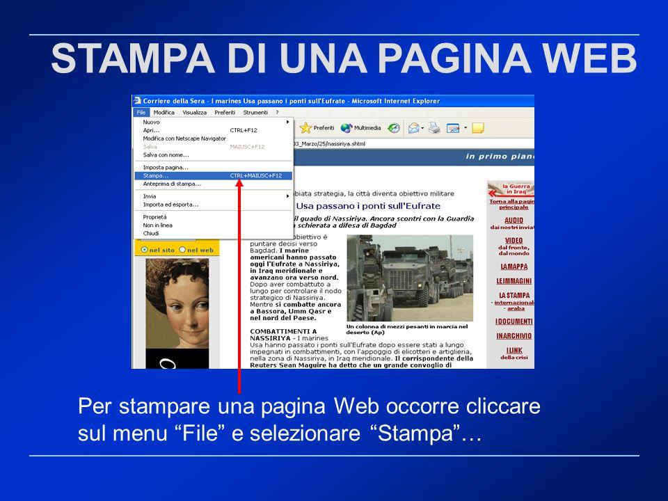 STAMPA DI UNA PAGINA WEB