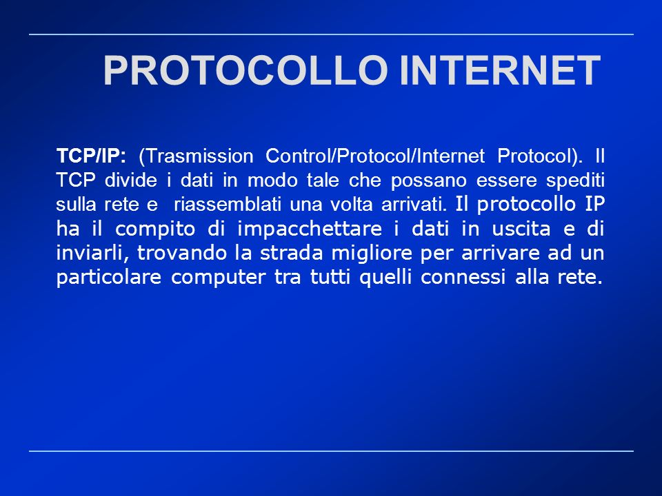 PROTOCOLLO INTERNET