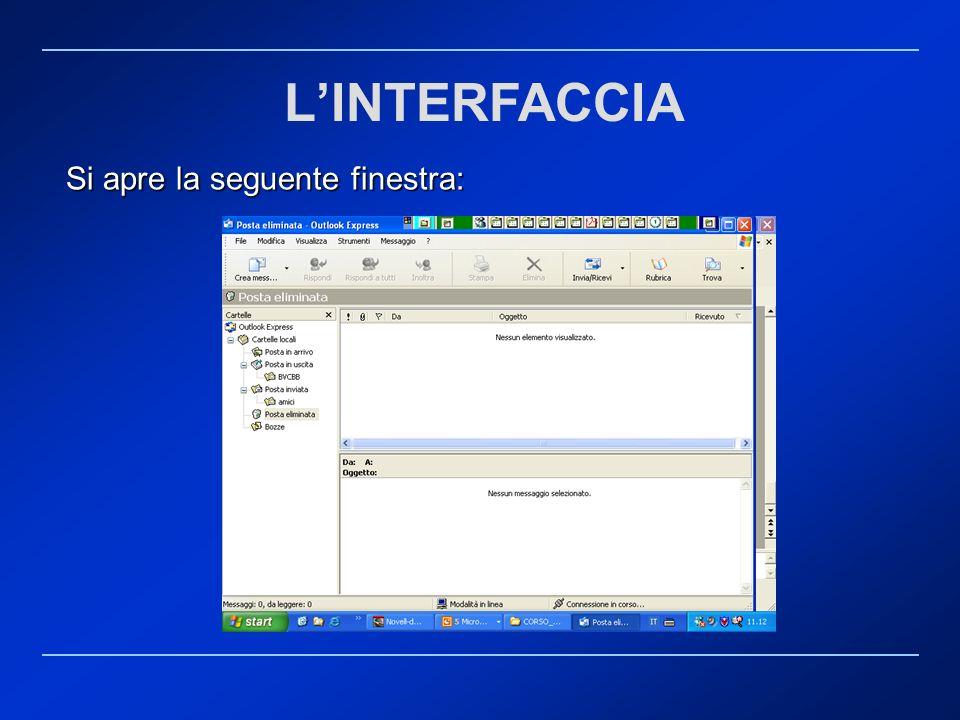 L'INTERFACCIA Si apre la seguente finestra: Rif. 7.4.3.1