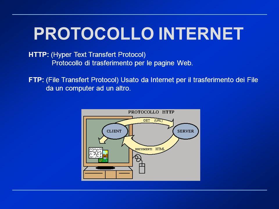 PROTOCOLLO INTERNET HTTP: (Hyper Text Transfert Protocol)
