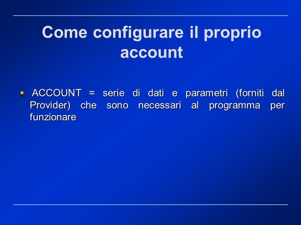 Come configurare il proprio account