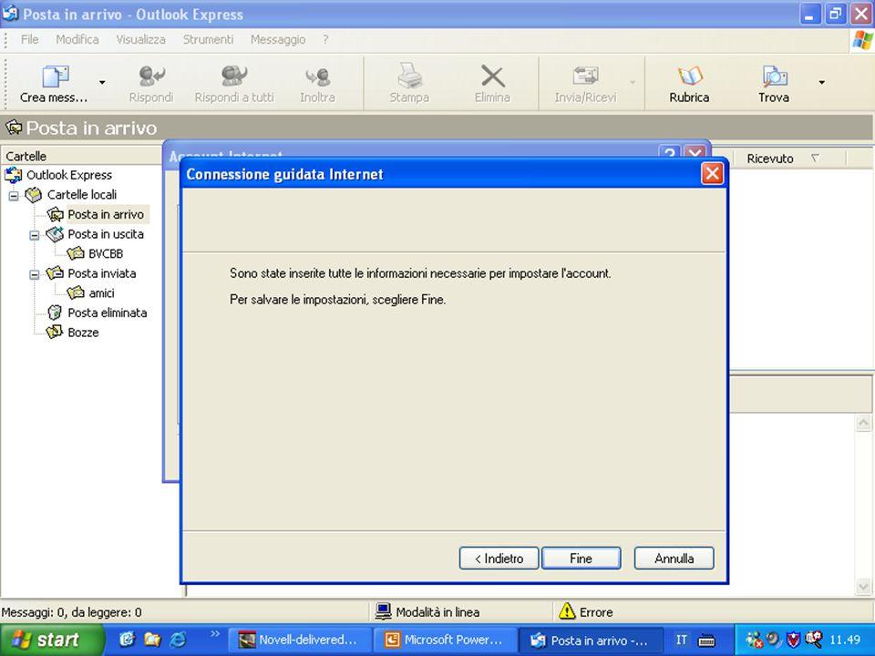 Rif. 7.4.3.1 La creazione guidata della configurazione è terminata: fare clic sul pulsante FINE.