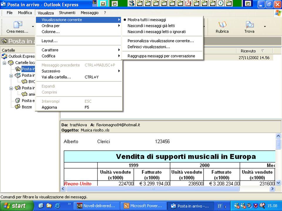 Rif. 7.4.3.3 – Rif. 7.4-3-4 Fare clic sul menu VISUALIZZA, quindi portare il puntatore del mouse sulla Voce VISUALIZZAZIONE CORRENTE.