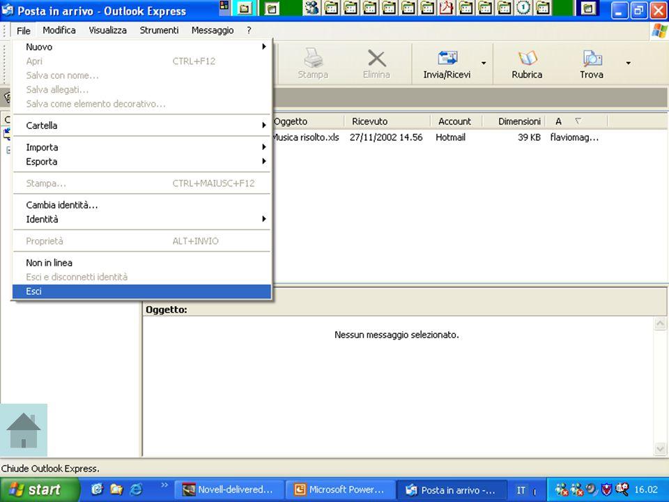 Rif. 7.4.3.1 Cliccare sul menu FILE, quindi sulla voce ESCI.