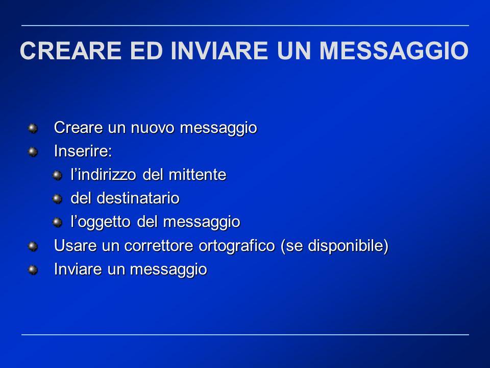 CREARE ED INVIARE UN MESSAGGIO