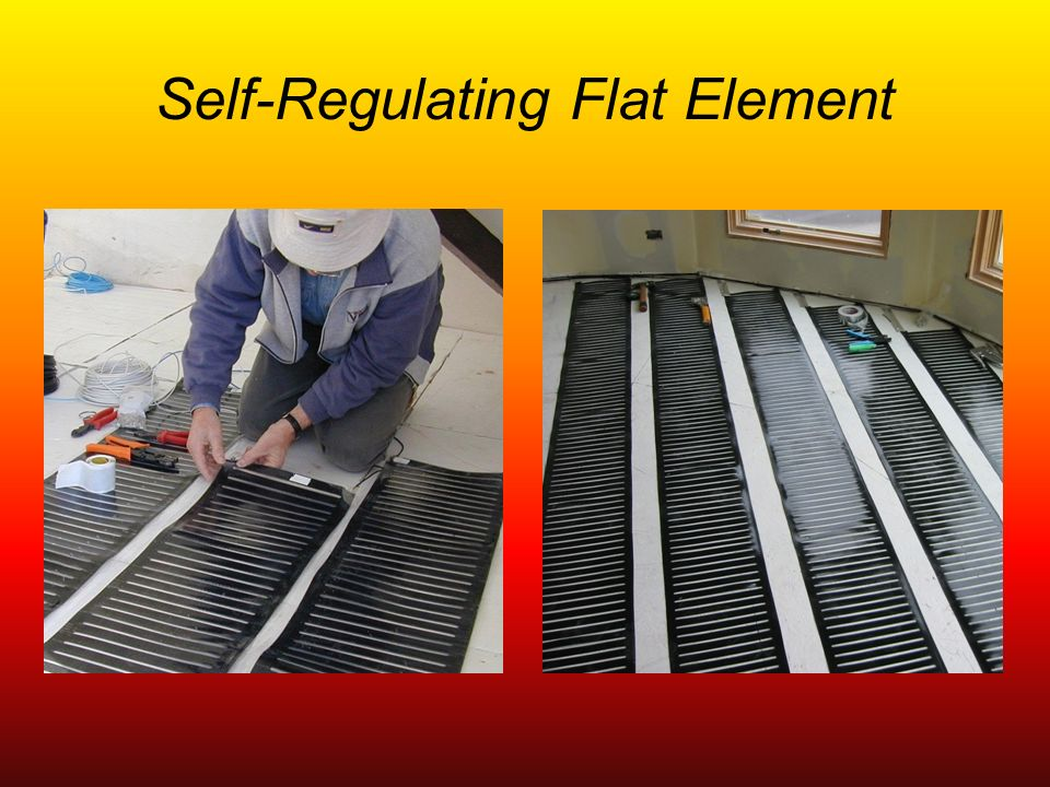 Self-Regulating Flat Element
