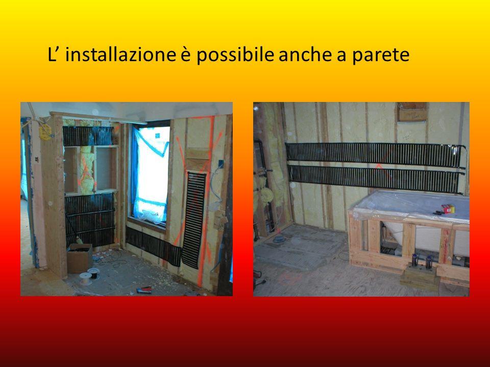 L' installazione è possibile anche a parete
