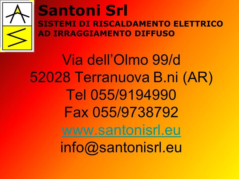 Santoni Srl SISTEMI DI RISCALDAMENTO ELETTRICO. AD IRRAGGIAMENTO DIFFUSO.