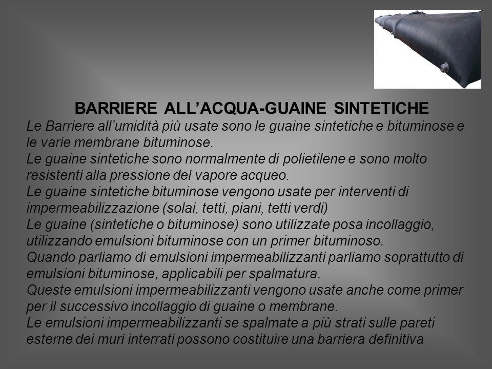 BARRIERE ALL'ACQUA-GUAINE SINTETICHE