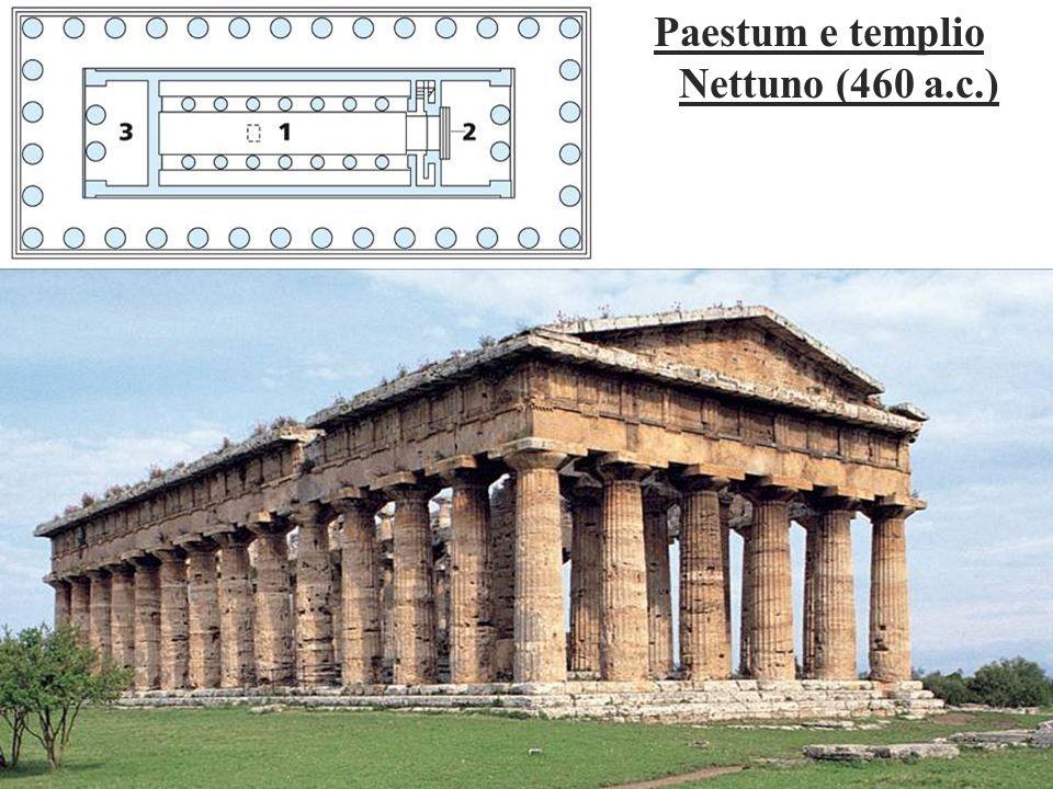 Paestum e templio Nettuno (460 a.c.)