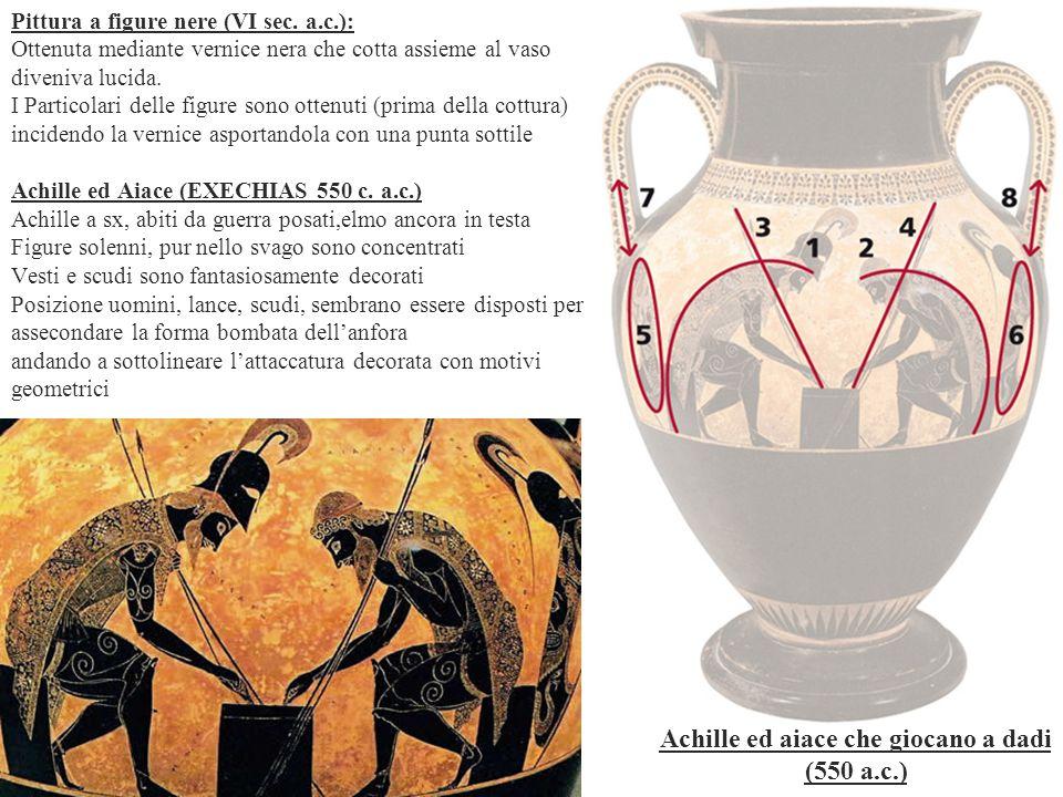 Achille ed aiace che giocano a dadi (550 a.c.)