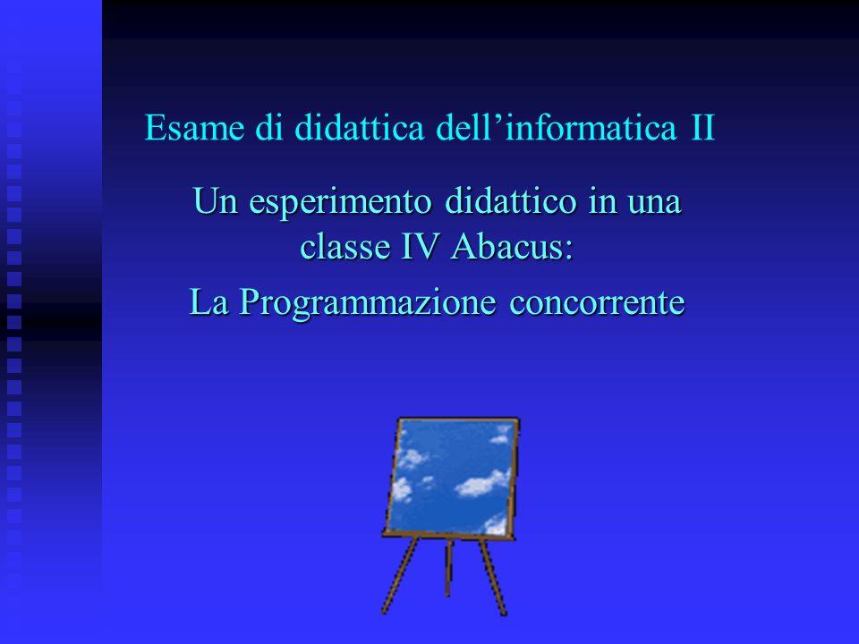 Esame di didattica dell'informatica II