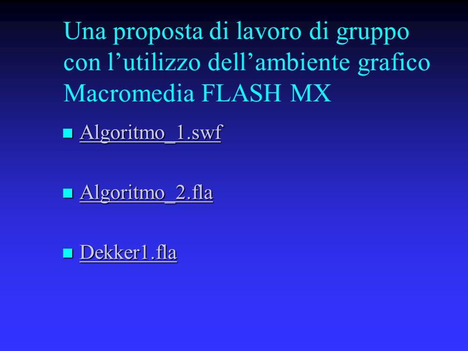 Una proposta di lavoro di gruppo con l'utilizzo dell'ambiente grafico Macromedia FLASH MX