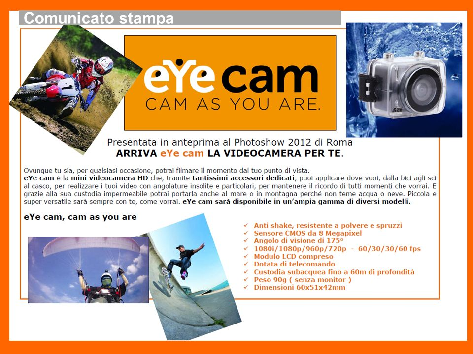 Comunicato stampa eYecam: press release