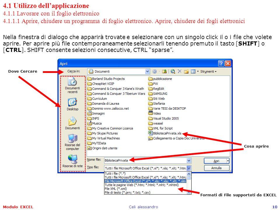 4. 1 Utilizzo dell'applicazione 4. 1