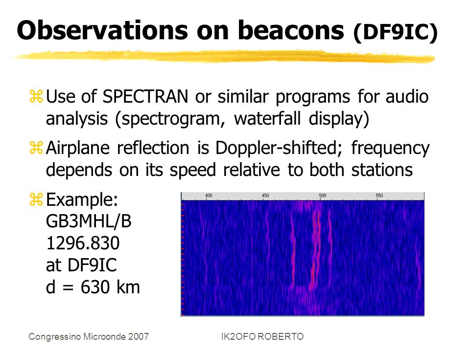 Observations on beacons (DF9IC)