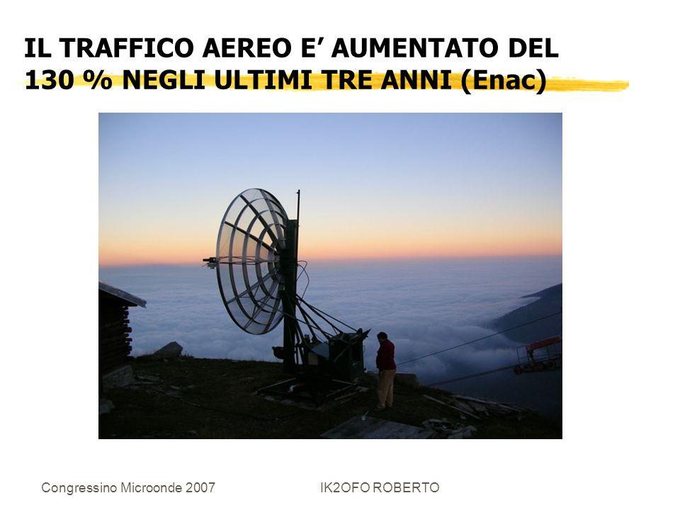 IL TRAFFICO AEREO E' AUMENTATO DEL 130 % NEGLI ULTIMI TRE ANNI (Enac)