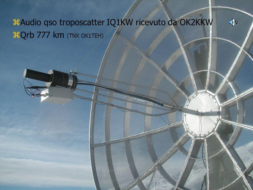 Audio qso troposcatter IQ1KW ricevuto da OK2KKW