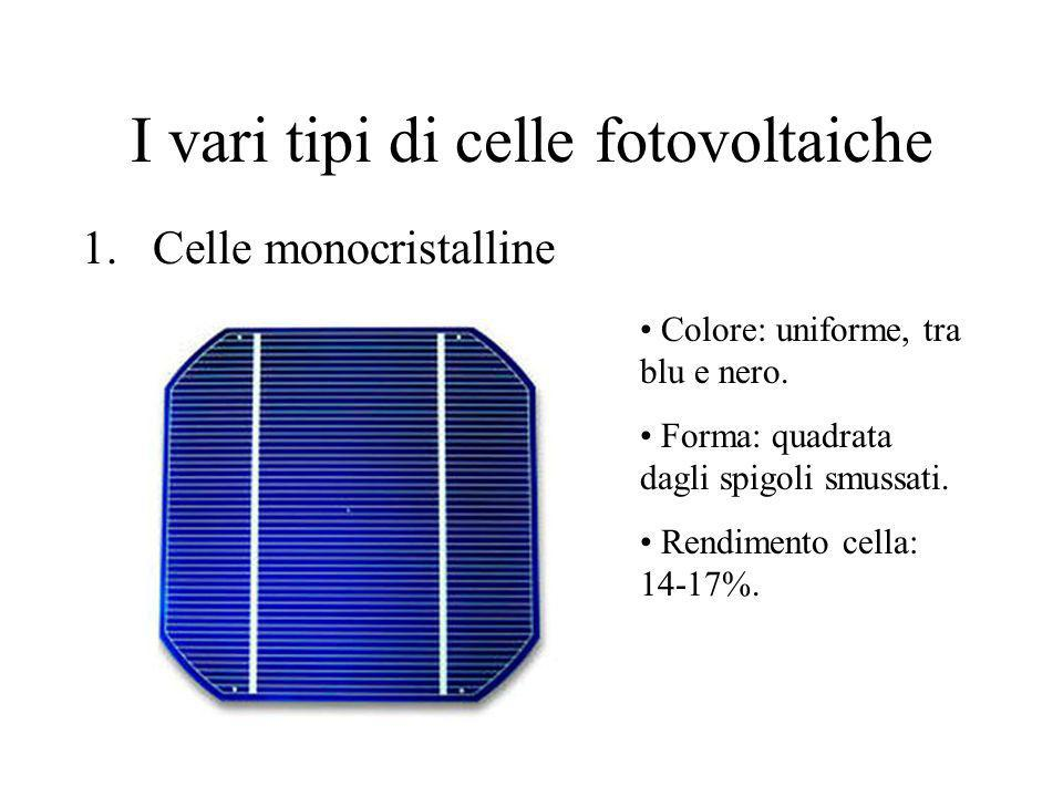 I vari tipi di celle fotovoltaiche