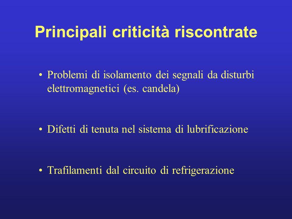 Principali criticità riscontrate