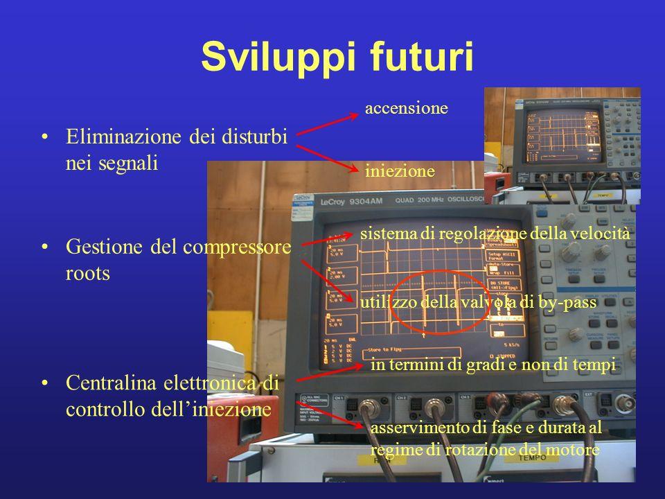 Sviluppi futuri Eliminazione dei disturbi nei segnali