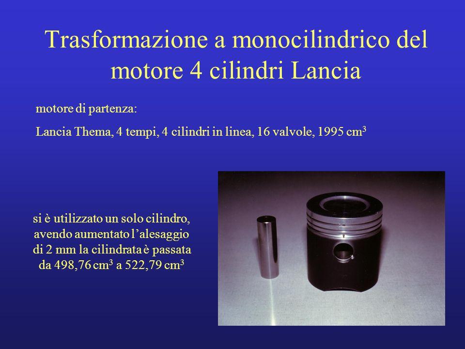 Trasformazione a monocilindrico del motore 4 cilindri Lancia