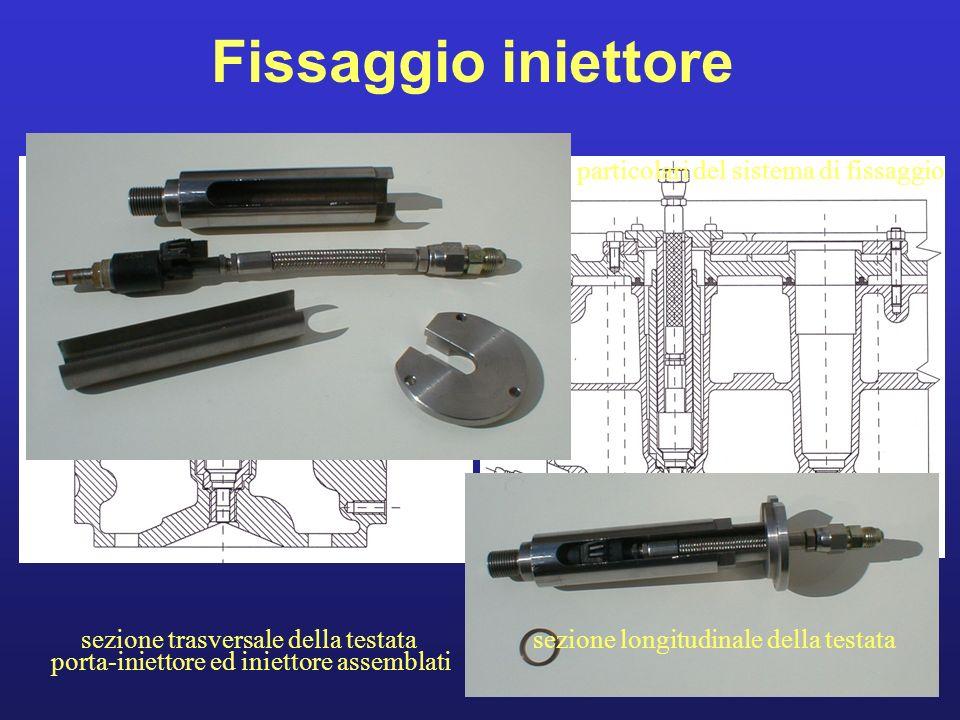 Fissaggio iniettore particolari del sistema di fissaggio
