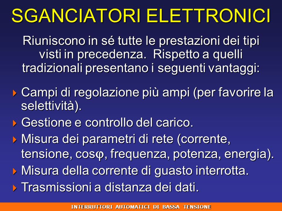 SGANCIATORI ELETTRONICI