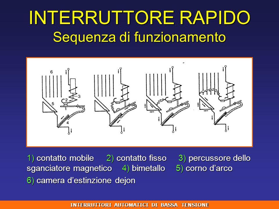 INTERRUTTORE RAPIDO Sequenza di funzionamento