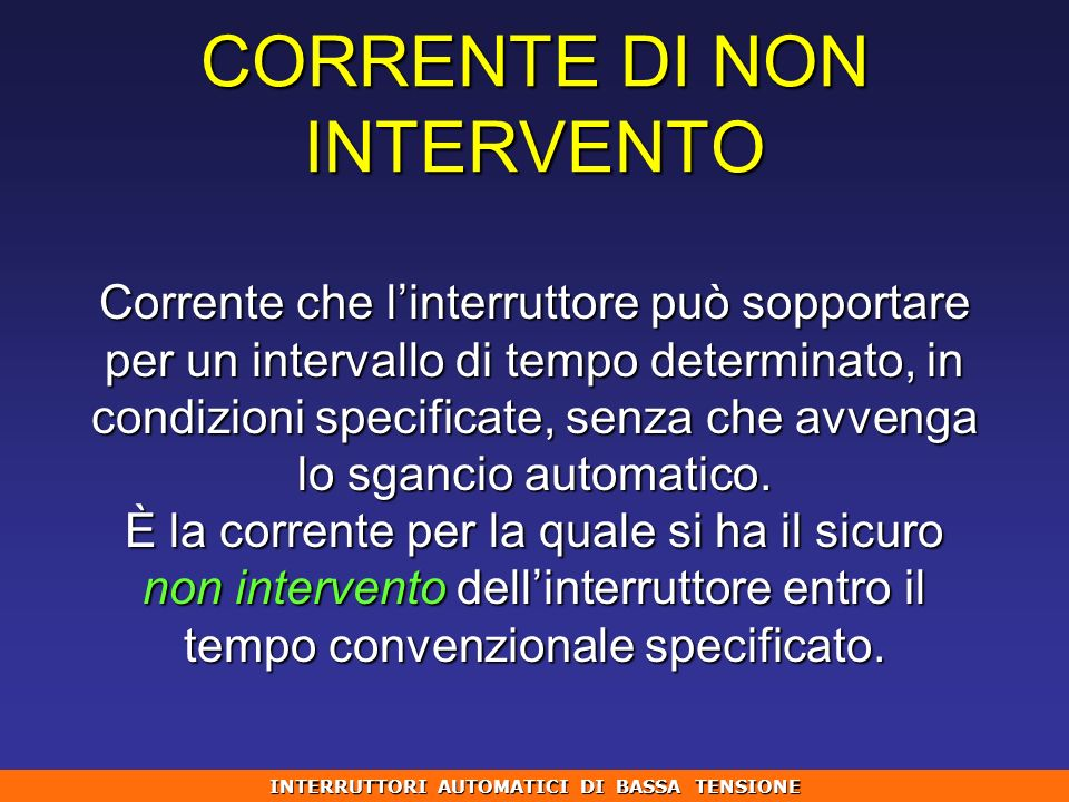 CORRENTE DI NON INTERVENTO