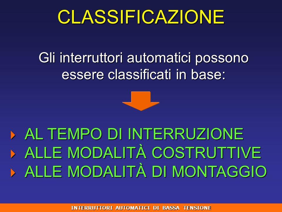 INTERRUTTORI AUTOMATICI DI BASSA TENSIONE
