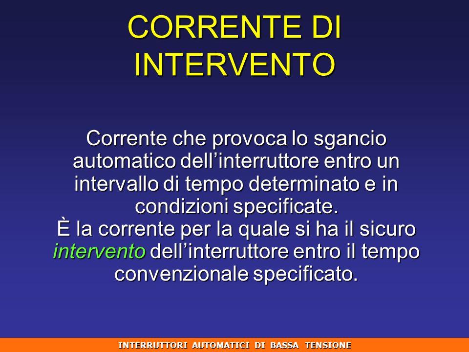 CORRENTE DI INTERVENTO