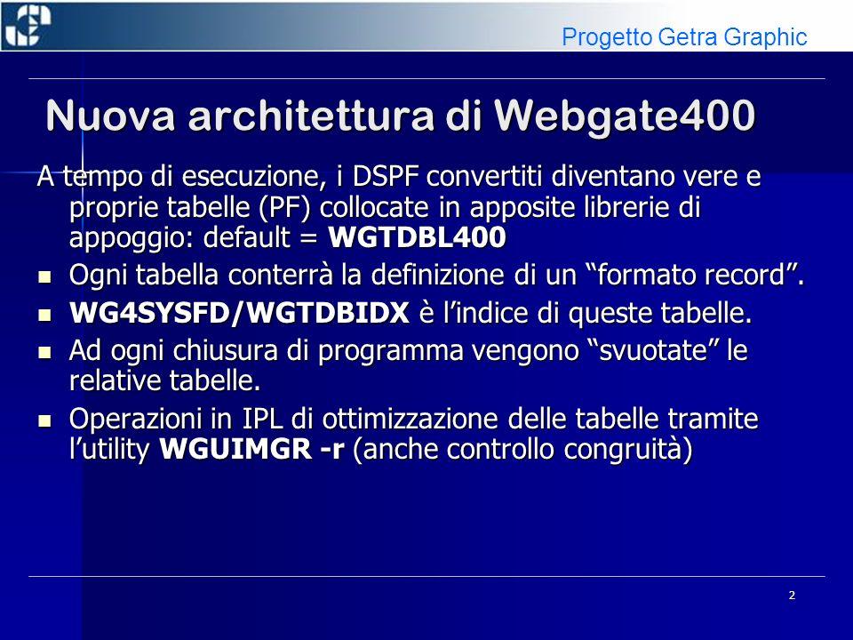 Nuova architettura di Webgate400