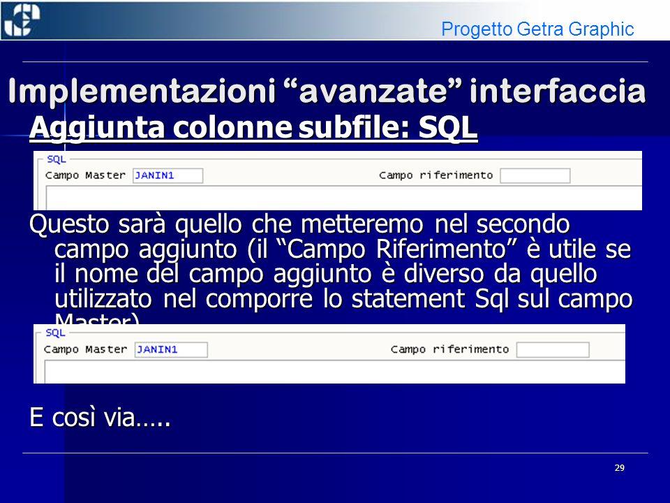Implementazioni avanzate interfaccia