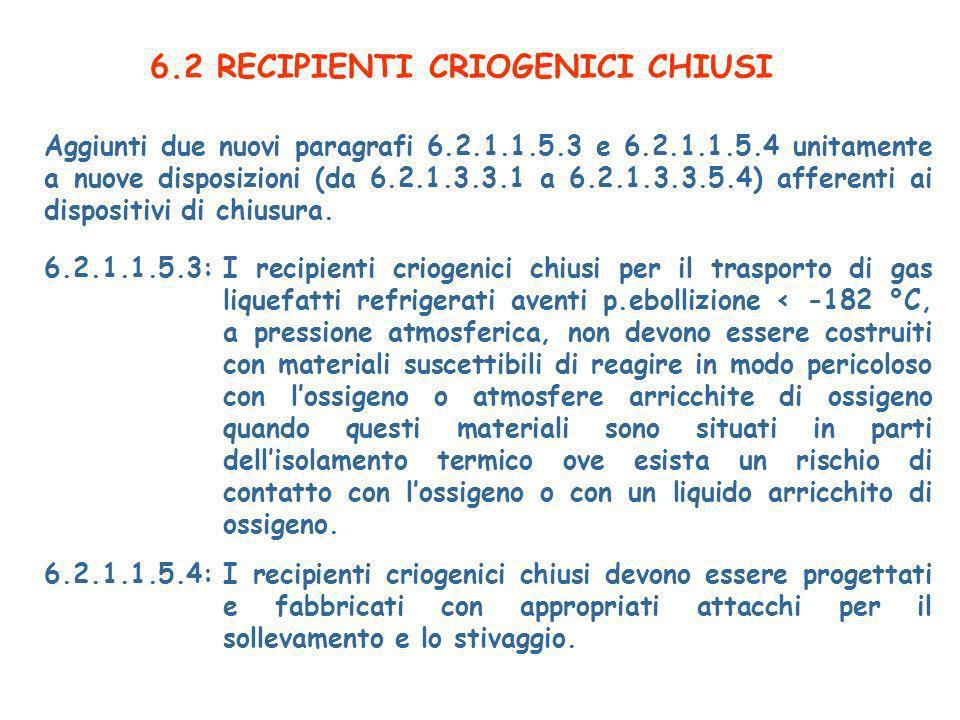 6.2 RECIPIENTI CRIOGENICI CHIUSI