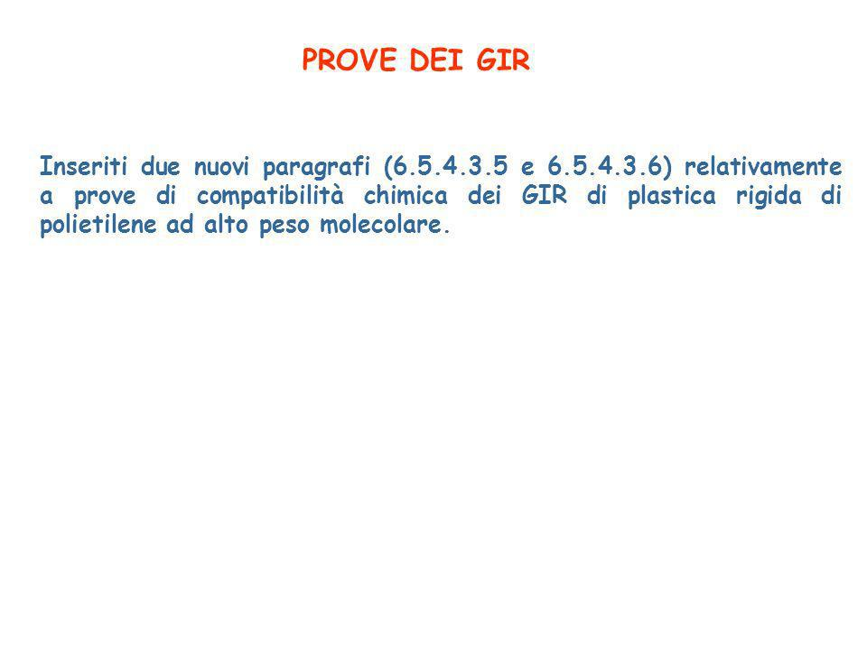PROVE DEI GIR