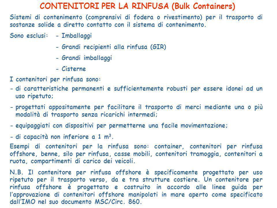CONTENITORI PER LA RINFUSA (Bulk Containers)