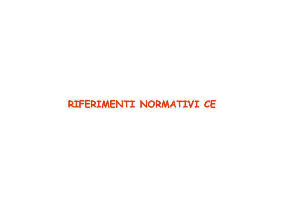 RIFERIMENTI NORMATIVI CE