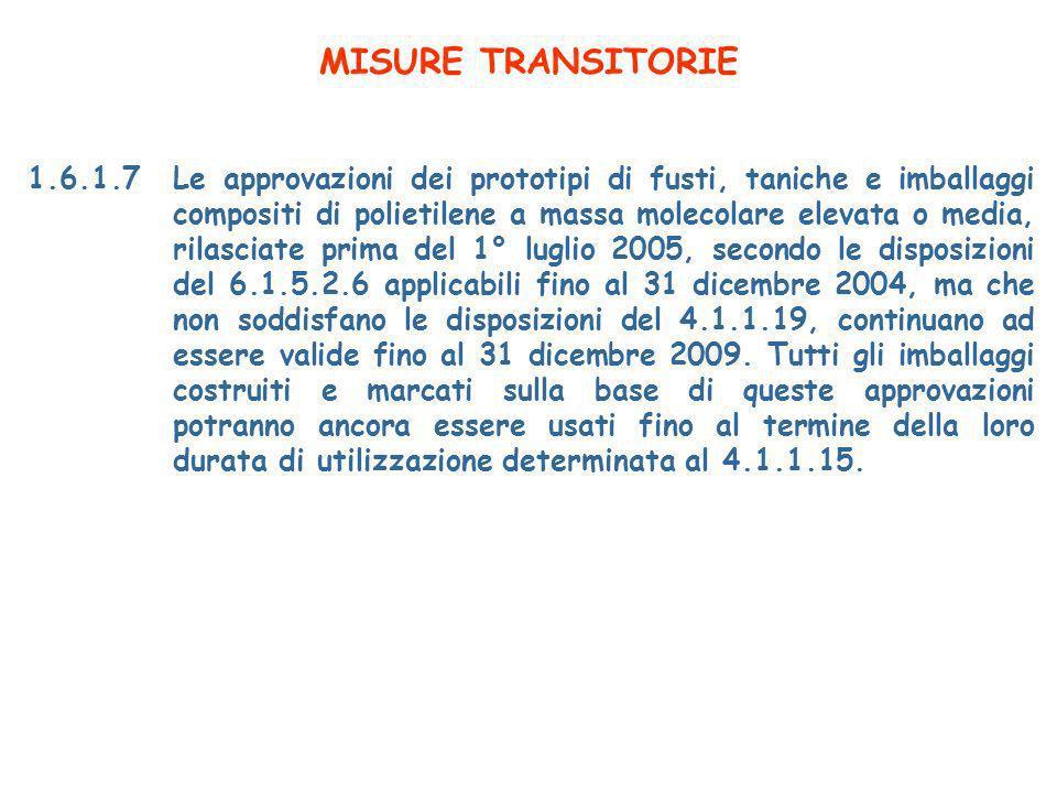 MISURE TRANSITORIE