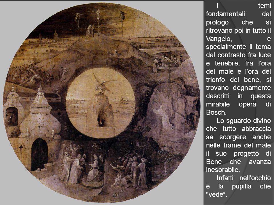 I temi fondamentali del prologo che si ritrovano poi in tutto il Vangelo, e specialmente il tema del contrasto fra luce e tenebre, fra l'ora del male e l'ora del trionfo del bene, si trovano degnamente descritti in questa mirabile opera di Bosch.