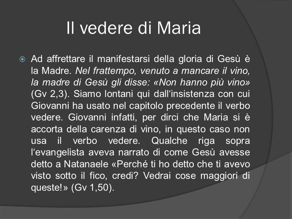 Il vedere di Maria