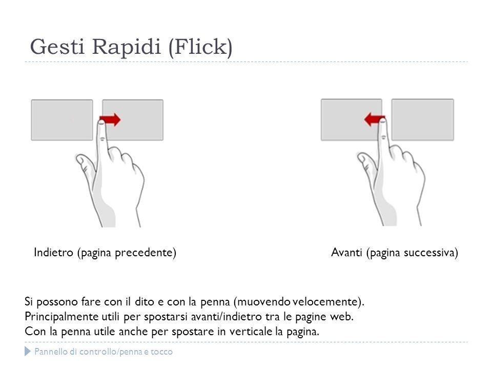 Gesti Rapidi (Flick) Indietro (pagina precedente)