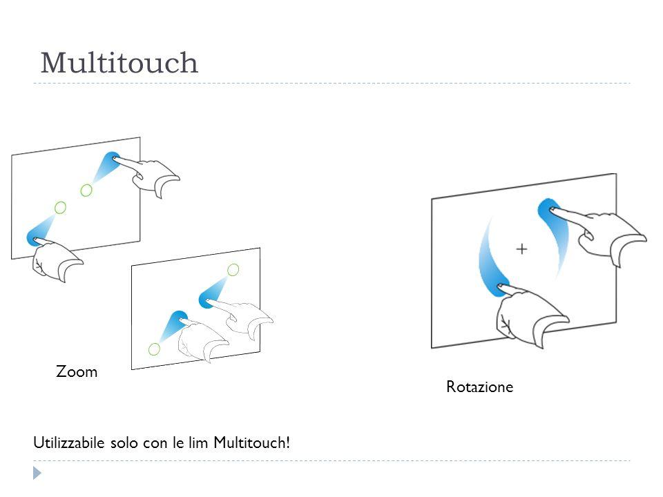 Multitouch Zoom Rotazione Utilizzabile solo con le lim Multitouch!