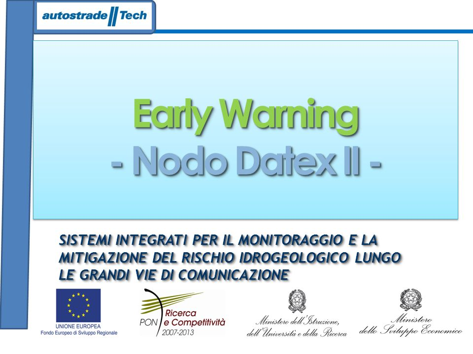 Early Warning - Nodo Datex II -