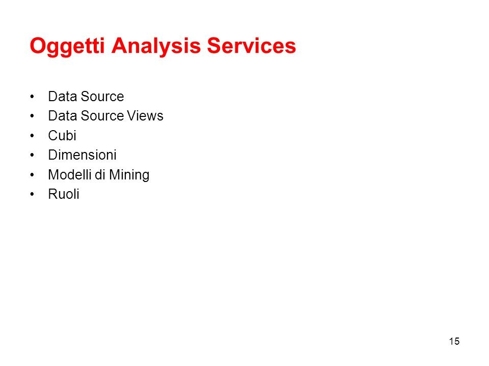 Oggetti Analysis Services