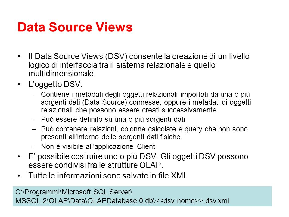 Data Source Views