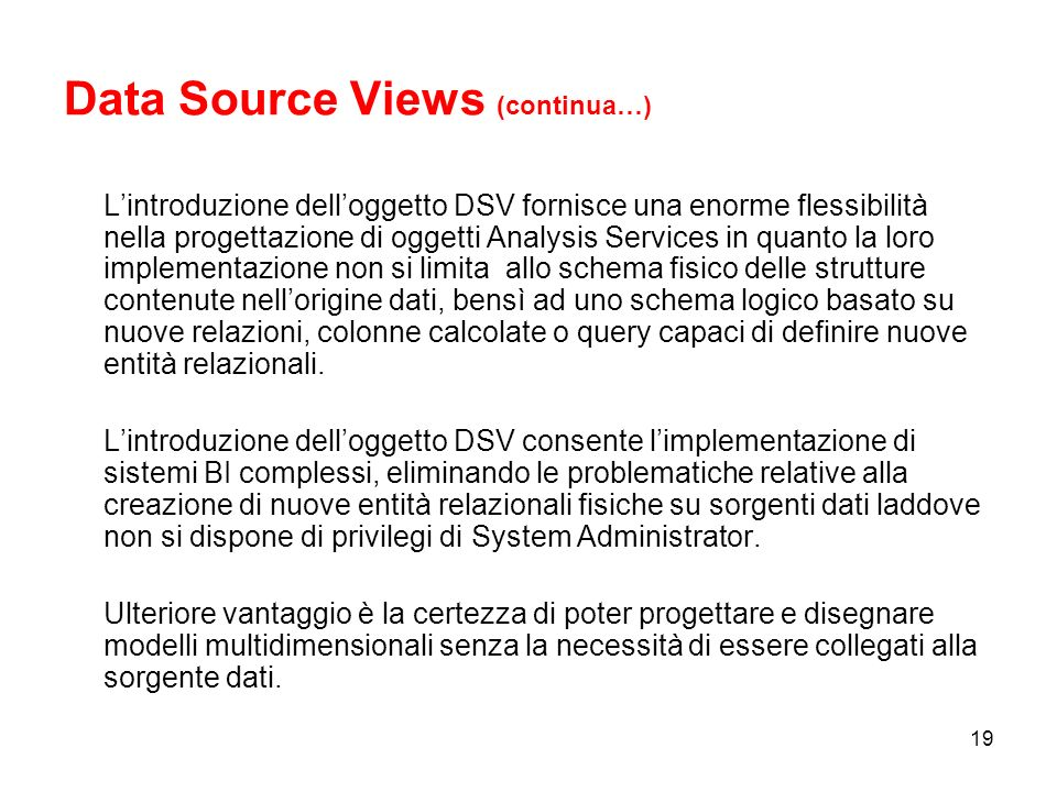 Data Source Views (continua…)