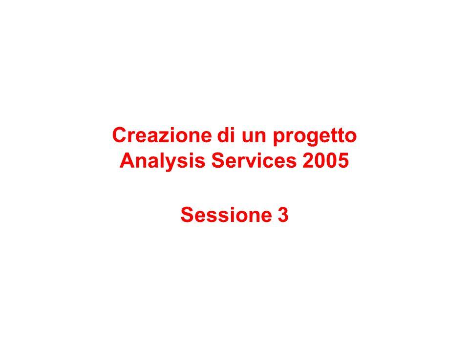 Creazione di un progetto Analysis Services 2005